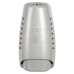 "Wall Mount Air Freshener Dispenser, 3 3/4"" x 3 1/4"" x 7 1/4"", Silver"