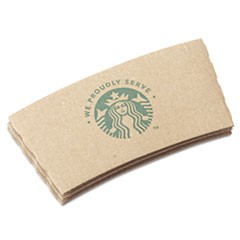 Cup Sleeves, For 12/16/20 oz Hot Cups, Kraft, 1380/Carton