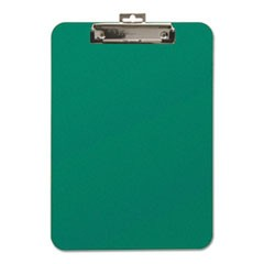 "Unbreakable Recycled Clipboard, 1/4"" Capacity, 9 x 12 1/2, Green"