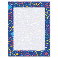 Design Suite Paper, 24 lbs., Star Confetti, 8 1/2 x 11, Royal Blue, 100/Pack