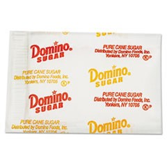 Domino Sugar Portion Packets, 0.1 Oz Packets, 2000/Carton