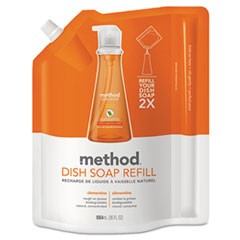 Dish Soap Refill, Clementine Scent, 36 oz Pouch