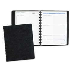 The Action Planner Weekly Appointment Book, 8 1/8 x 10 7/8, Black, 2018