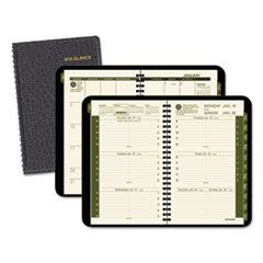 Recycled Weekly/Monthly Appointment Book, 4 7/8 x 8, Black, 2016