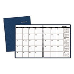 Monthly Planner, 8 7/8 x 11, Navy, 2017-2018