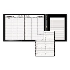 Plus Weekly Appointment Book, 8 1/4 x 10 7/8, Black, 2017-2018