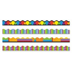"Terrific Trimmers Border, 2 1/4 x 39"" Panels, Color Collage Designs, 48/Set"