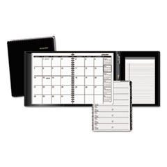 Plus Monthly Planner, 6 7/8 x 8 3/4, Black, 2018