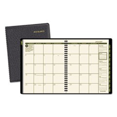 Recycled Monthly Planner, 6 7/8 x 8 3/4, Black, 2016