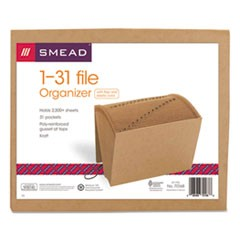Indexed Expanding Kraft Files, 31 Sections, 1/31-Cut Tab, Letter Size, Kraft