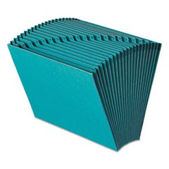 Heavy-Duty Indexed Expanding Open Top Color Files, 21 Sections, 1/21-Cut Tab, Letter Size, Teal