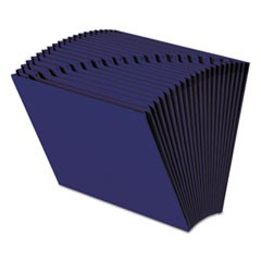 Heavy-Duty Indexed Expanding Open Top Color Files, 21 Sections, 1/21-Cut Tab, Letter Size, Navy Blue