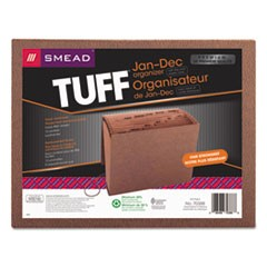 TUFF Expanding Files, 12 Sections, 1/12-Cut Tab, Letter Size, Redrope