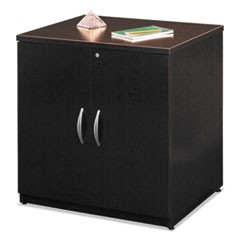 Series C Collection 30W Storage Cabinet, Mocha Cherry/Graphite Gray