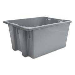 Palletote Box, 9.72gal, Gray, 10/Carton