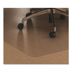 Cleartex Ultimat Polycarbonate Chair Mat for Low/Med Pile Carpet, 48 x 53, w/Lip