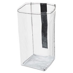 Executive Quick Cart Plastic Pocket Liner, Small, 4 x 3 4/5 x 8 1/2, Clear