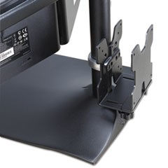 Thin Client Mount, 4 to 9w x 0.88 to 2.38d x 6.88h, Black