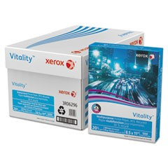 Vitality 30% Recycled Multipurpose Paper, 92 Bright, 20lb, 8.5 x 11, White, 500/Ream