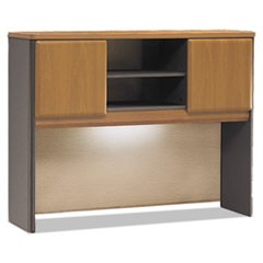 Series A Collection 48W Hutch, Natural Cherry/Slate Gray