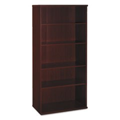 Series C Collection 36W 5 Shelf Bookcase, Mahogany