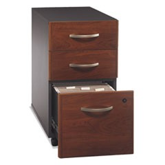 Series C Collection 3 Drawer Mobile Pedestal (Assembled), 15.75w x 20.25d x 27.88h, Hansen Cherry