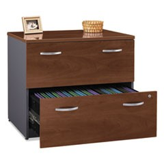 Series C Collection 2 Drawer 36W Lateral File (Assembled), 35.75w x 23.38d x 29.88h, Hansen Cherry