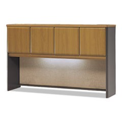 Series A Collection 60W Hutch, Natural Cherry/Slate Gray