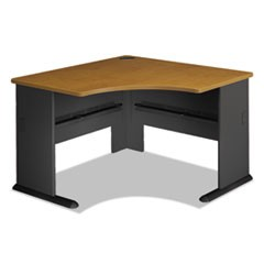Series A Collection 48W Corner Desk, Natural Cherry