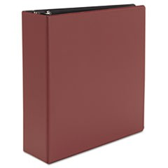 "Economy Non-View Round Ring Binder, 3"" Capacity, Burgundy"