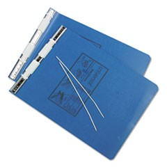 Pressboard Hanging Data Binder, 9 1/2 x 11, Unburst Sheets, Blue