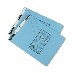 Pressboard Hanging Data Binder, 9-1/2 x 11, Unburst Sheets, Light Blue