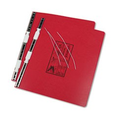 Pressboard Hanging Data Binder, 14-7/8 x 11 Unburst Sheets, Red