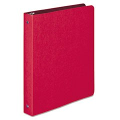 "PRESSTEX Round Ring Binder, 3 Rings, 1"" Capacity, 11 x 8.5, Executive Red"