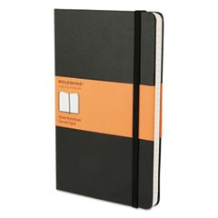 Hard Cover Notebook, Narrow Rule, Black Cover, 8.25 x 5, 192 Sheets
