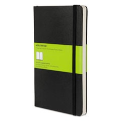 Hard Cover Notebook, Plain, 8 1/4 x 5, Black Cover, 192 Sheets