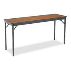 Special Size Folding Table, Rectangular, 60w x 18d x 30h, Walnut/Black