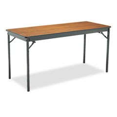 Special Size Folding Table, Rectangular, 60w x 24d x 30h, Walnut/Black