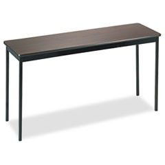 Utility Table, Rectangular, 60w x 18d x 30h, Walnut/Black