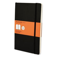 Classic Softcover Notebook, 1 Subject, Narrow Rule, Black Cover, 8.25 x 5, 192 Sheets