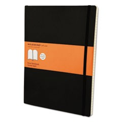 Classic Softcover Notebook, 1 Subject, Narrow Rule, Black Cover, 10 x 7.5, 192 Sheets