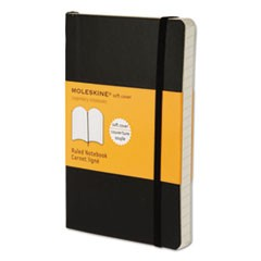 Classic Softcover Notebook, Narrow Rule, Black Cover, 5.5 x 3.5, 192 Sheets