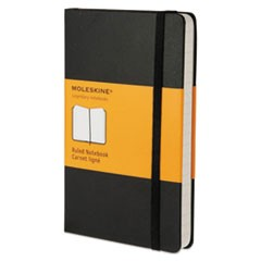 Hard Cover Notebook, Narrow Rule, Black Cover, 5.5 x 3.5, 192 Sheets