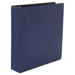 "D-Ring Binder, 2"" Capacity, 8-1/2 x 11, Navy Blue"