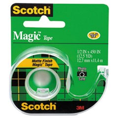 "Magic Tape in Handheld Dispenser, 1"" Core, 0.5"" x 37.5 ft, Clear"