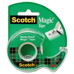 "Magic Tape in Handheld Dispenser, 1"" Core, 0.75"" x 25 ft, Clear"