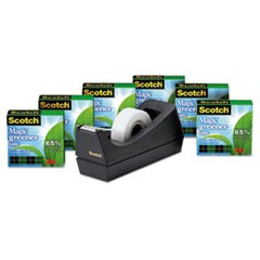 Scotch Magic Greener Tape With C38 Dispenser, 1  Core, 0.75  X 75 Ft, Clear, 6/Pack