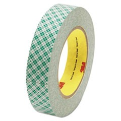 "Double-Coated Tissue Tape, 3"" Core, 1"" x 36 yds, White"