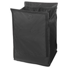 Executive Quick Cart Liner, Large, 12 4/5 x 16 x 22 1/5, Black, 6/Carton