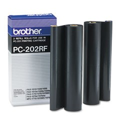 PC-202RF Thermal Transfer Refill Roll, 450 Page-Yield, Black, 2/PK